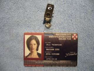 Resident Evil Raccoon City Identification Card ID props