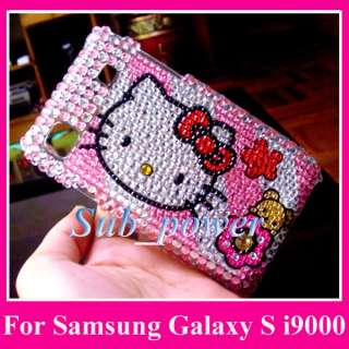 Hello Kitty Bling Case Cover Samsung Galaxy S i9000 XXM