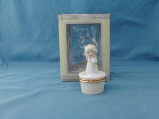 Precious Moments Figural Porcelain Hinged Box