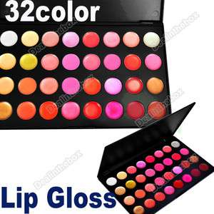 32 Color Lips Gloss Lipsticks Makeup Cosmetics Palette Professional