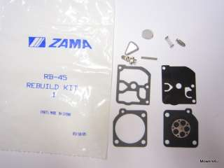 OEM ZAMA CARBURETOR REPAIR KIT RB 45 HUSQVARNA 45 51 55