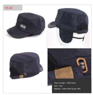 Fly fishing Hunting Waterproof Army men Ear flap warm hat hats cap