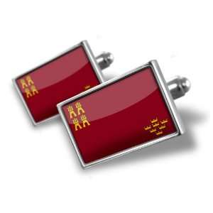 Cufflinks Murcia Flag region: Spain   Hand Made Cuff