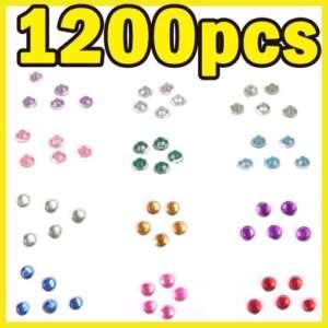 1200PCS NAIL ART TIP GLITTER RHINESTONES WITH WHEEL t