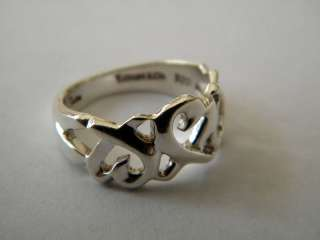 Tiffany & Co Paloma Picasso Sterling Silver Open Heart Ring