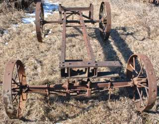 Titan 3 6 HP Hit & Miss Gas Engine Horse Drawn Saw Rig Truck