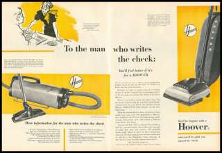 1951 vintage ad for Hoover Vacuum Cleaners  1125