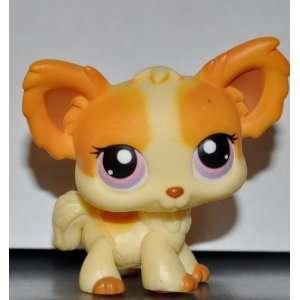 Chihuahua #96 (Dog, Cream, Purple Eyes, Tan Accents) Littlest Pet Shop
