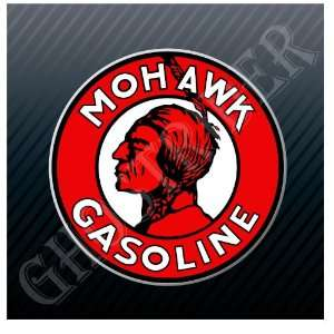 Mohawk Gasoline Gas Station Fuel Pump Vintage Sticker