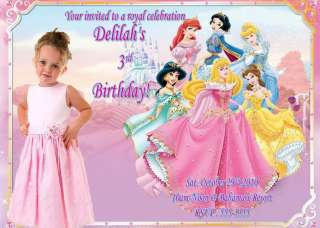 CUSTOM DISNEY PRINCESS BIRTHDAY INVITATIONS