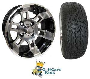 RX121 Low Profile Golf Cart 12 Wheel and Tire Combo
