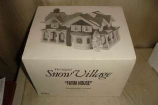 Department 56 Farm House 54912 Snow Village Retired in 2000