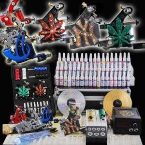 Complete Tattoo Kit 6 Machine Guns 54 Ink Set Equipment