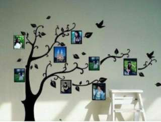 removable black tree photo picture frame wall sticker decal 50 x 70 cm