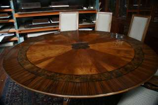 Large round mahogany dining room table  84 Round Table