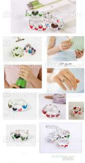 Lovely Candy Color Alloy Multicolor Colorful Heart Ring