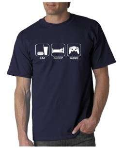 Eat Sleep Game T shirt Video Funny TV 5 Colors S 3XL