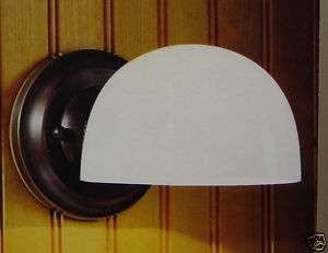 RUBBED OIL BRONZE WALL SCONCE LIGHT WITH GLASS*NIB*