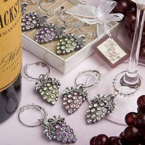 Grape Design Wine Charms Bridal Shower Wedding Favors Bulk Lot