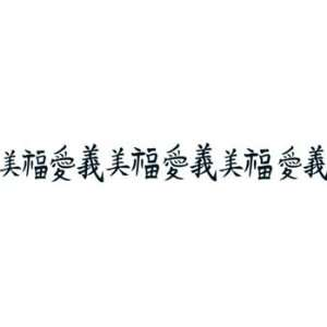 CHINESE WORDING Arm Band Temporary Tattoo 1.5x9: Beauty