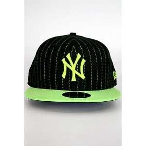 New Era Pinstripe New York Yankee Hat Black