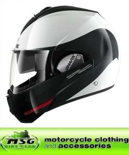 SHARK EVOLINE S3 ST MOTORCYCLE HELMET HAKKA MEDIUM WHITE/BLACK/RED WKR