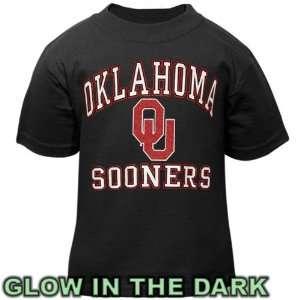 Oklahoma Sooners Toddler Black Glow in The Dark T Shirt Sports