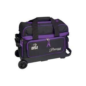 BSI Purple/Black 2 Ball Roller Bowling Bag