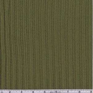 48 Wide Ribbed Sweater Knit Olive Fabric By The Yard