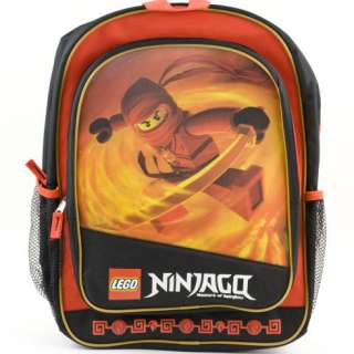 LEGO NINJAGO Fire Red 3d BACKPACK School Book Bag New Boys Kids