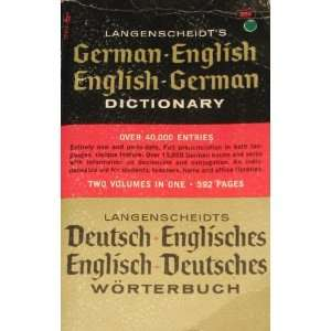 Langenscheidts German English English German Dictionary Books