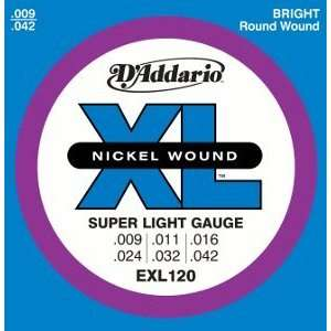 Addario Electric Guitar Environmental XL Super Lite, .009   .042
