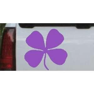 5.8in X 6in Purple    Four Leaf Clover Car Window Wall
