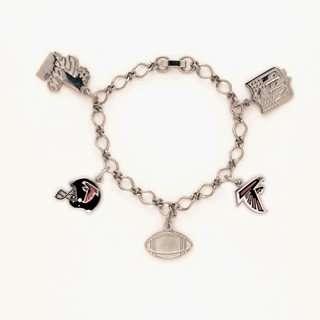 Atlanta Falcons Silver Tone NFL Charm Bracelet Sports