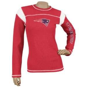 Red Jersey Style Long Sleeve Waffle Thermal T shirt Sports & Outdoors