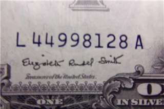 1957 & 1957 A SERIES $1 ONE DOLLAR BILL (BLUE SEAL) SILVER CERTIFICATE