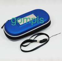 Blue Hard Carry Case Bag Game Pouch For SONY PSP UMD