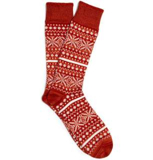 Accessories  Socks  Casual socks  Thick Fair Isle Socks