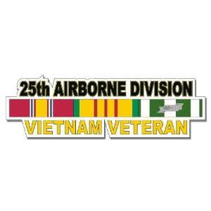US Army 25th Airborne Division Vietnam Veteran Window Strip Decal