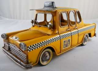 Checker Cab Car Vehicle Cab Driver Taxi Cabs Antique Look