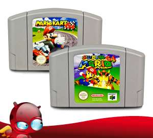 N64 MARIO Spiele  SUPER MARIO 64 + MARIO KART