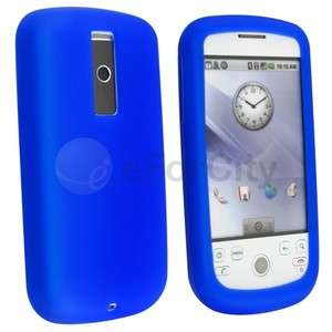 BLUE SILICONE SKIN SOFT CASE COVER FOR HTC MyTouch 3G MAGIC