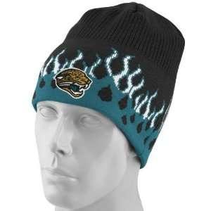 Reebok Jacksonville Jaguars Black Flame Knit Beanie