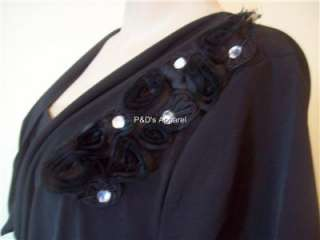 Womens Plus Size Clothing Black Shirt Top Blouse 1X 2X 3X