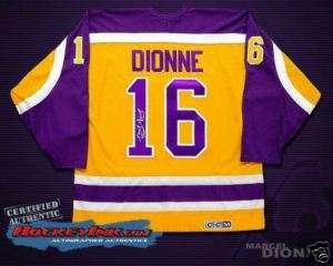Los Angeles Kings MARCEL DIONNE Signed Retro NHL Jersey