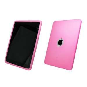 Premium Pink Silicone Gel Skin Cover Case for Apple iPad