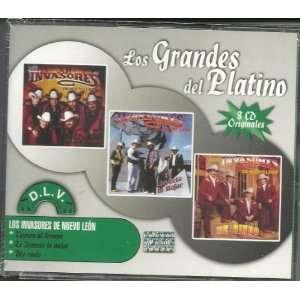 Los Invasores De Nuevo Leon Los Grandes Del Platino 3cd