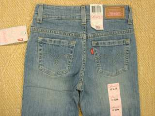NWT LEVIS GIRLS STRETCH FLARE 517 JEANS SIZE 12 SLIM