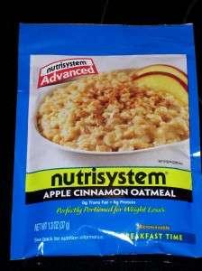 Nutrisystem Advanced Apple Cinnamon Oatmeal cereal breakfast diet food