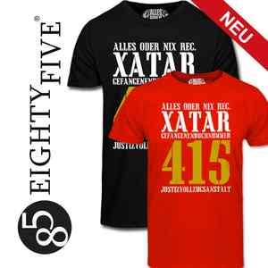 NEU FREE XATAR T Shirt rot schwarz Thug Life Haft